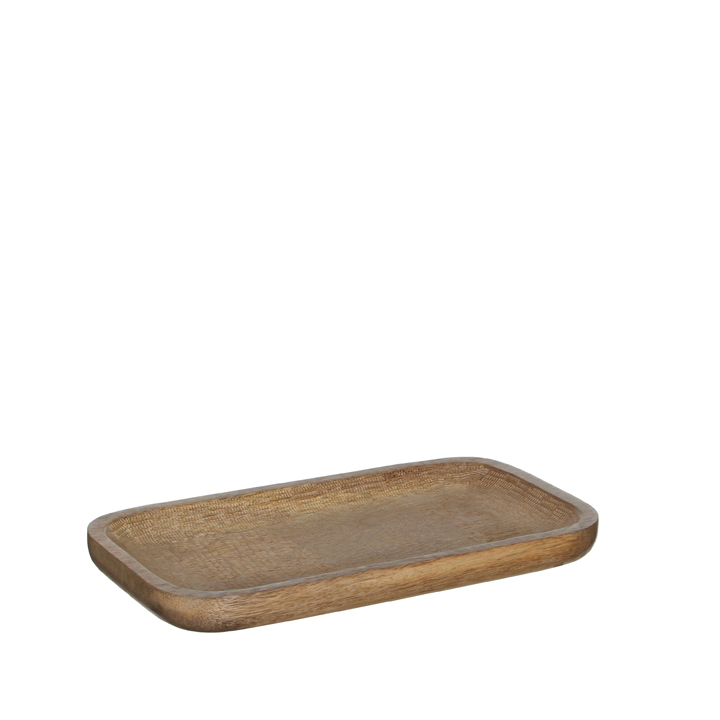 Lora tray brown 28x15x2