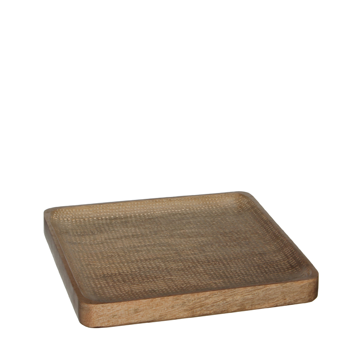 Lora tray brown 20 x 20 x 2cm