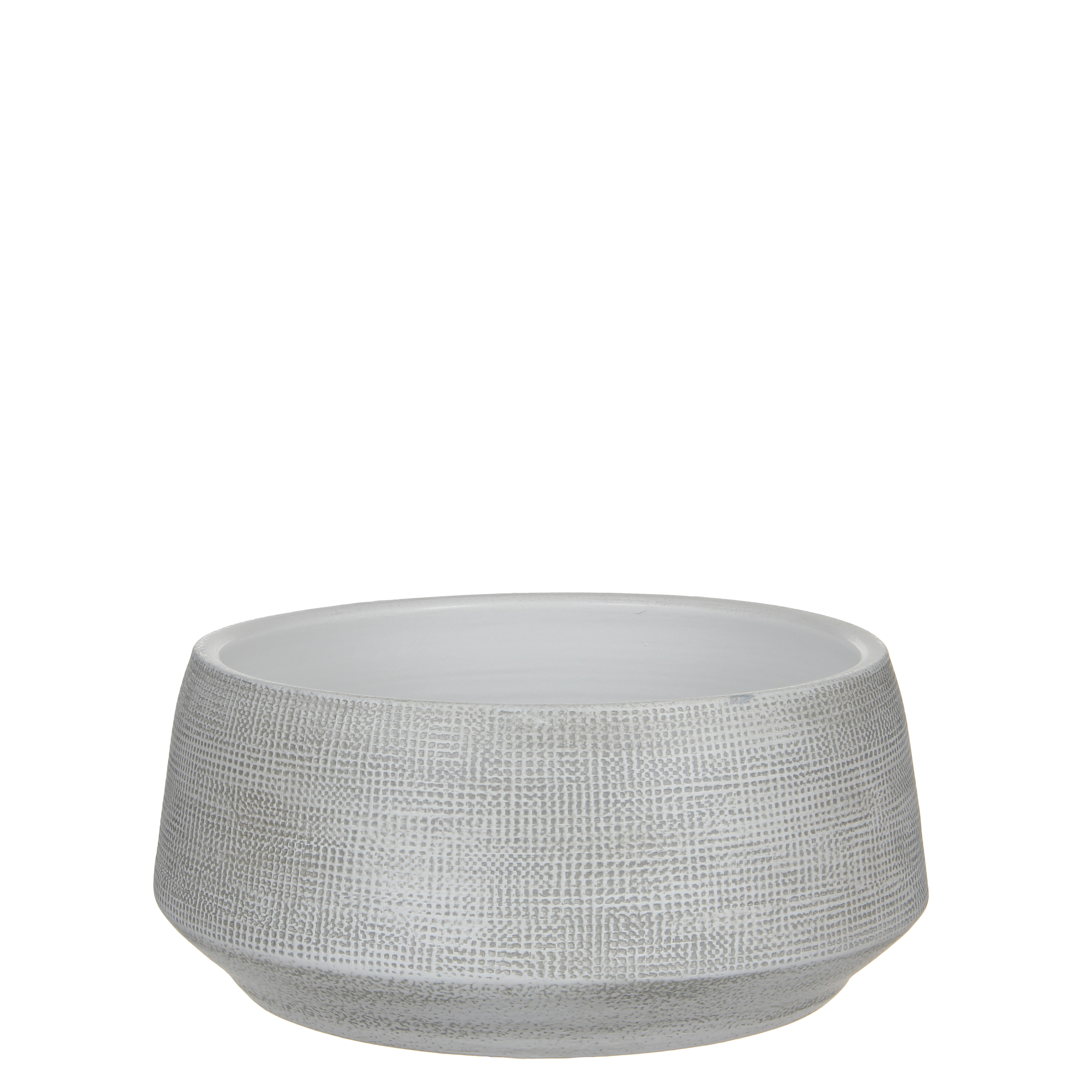 Guido bowl round off white h14xd28cm