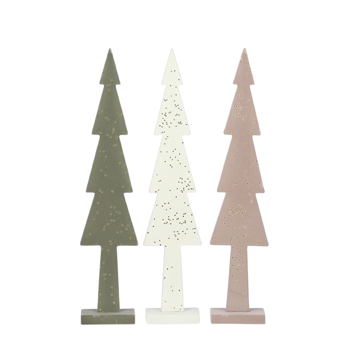 Tree green white pink 3 assorted 8x4x36cm