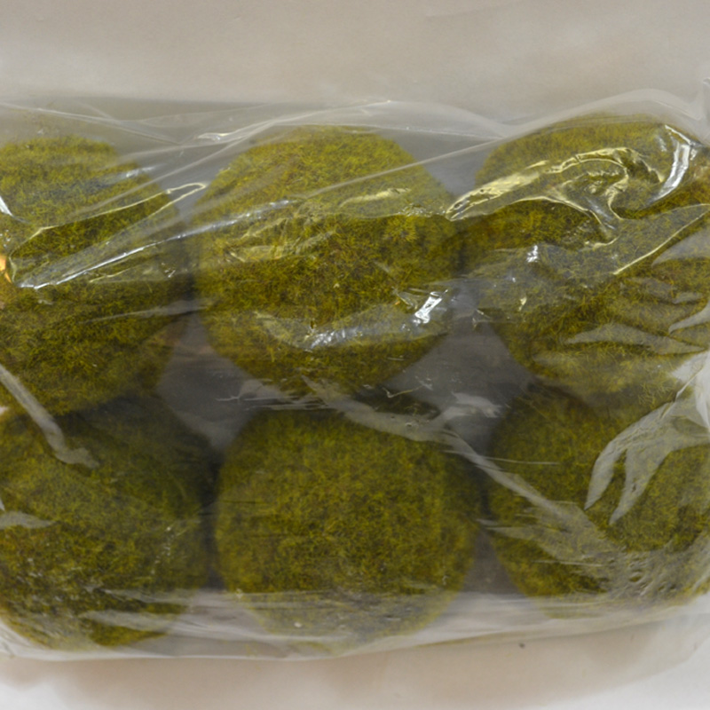 Medium moss ball green x6