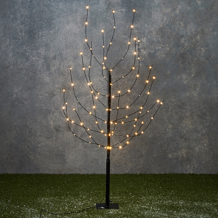 Tree black warm white 100led IP44 110x12x12 cm