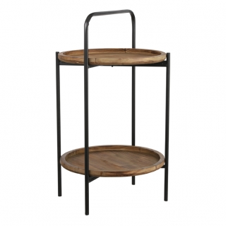 Sergio side table hnědý v55, p36 cm
