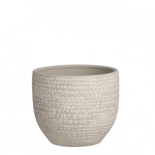 Carrie pot round grey vh12 , p14 cm